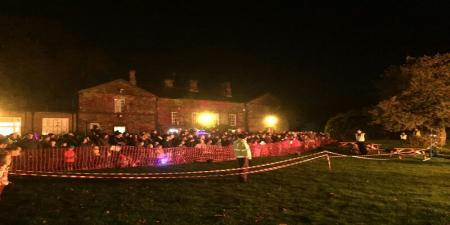 Bonfire and fireworks Evening Old Rectory