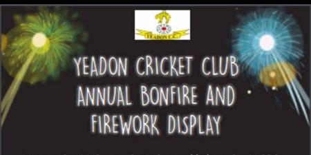 Yeadon cricket club bonfire and fireworks